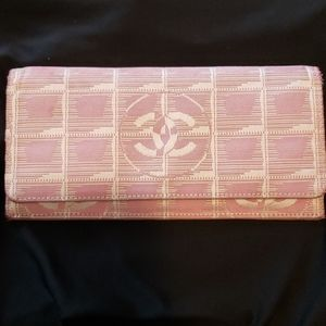 Authentic Chanel Long Wallet Travel Line